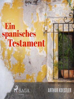 cover image of Ein spanisches Testament