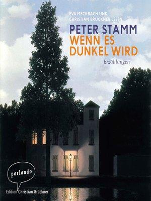 cover image of Wenn es dunkel wird