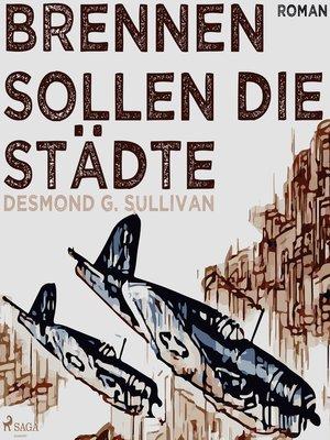 cover image of Brennen sollen die Städte