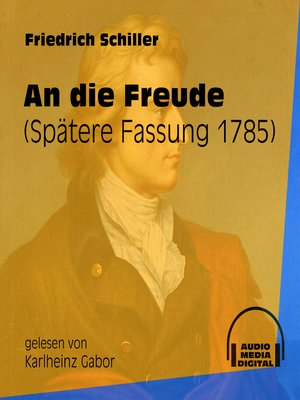 cover image of An die Freude--Spätere Fassung 1785