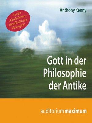 cover image of Gott in der Philosophie der Antike