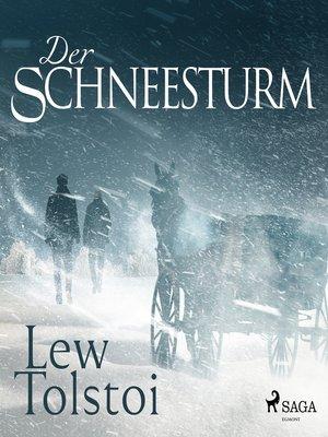 cover image of Der Schneesturm