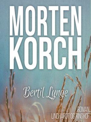 cover image of Bertil Lynge