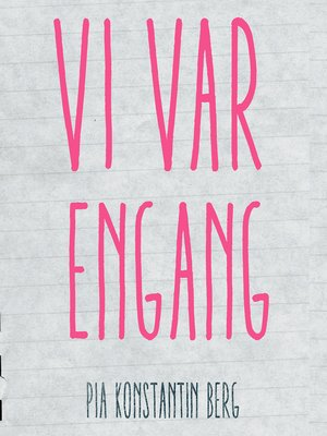 cover image of Vi var engang