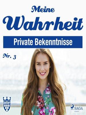 cover image of Meine Wahrheit, 3