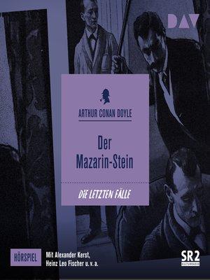 cover image of Der Mazarin-Stein (Hörspiel)