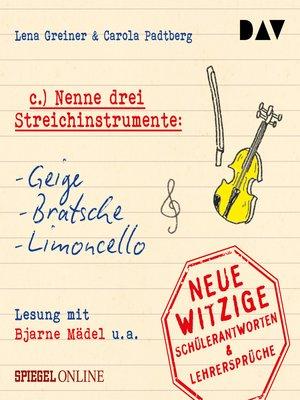 """cover image of """"Nenne drei Streichinstrumente"""