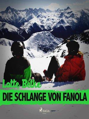 cover image of Die Schlange von Fanola
