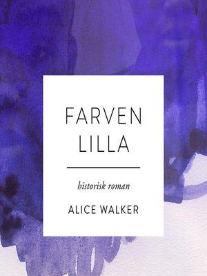 cover image of Farven lilla