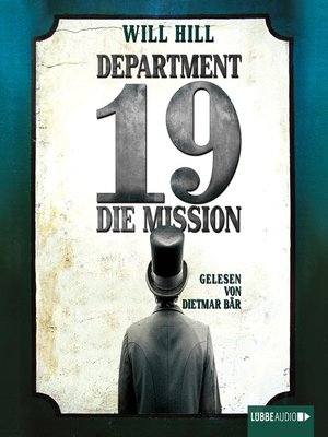 cover image of Department 19--Die Mission