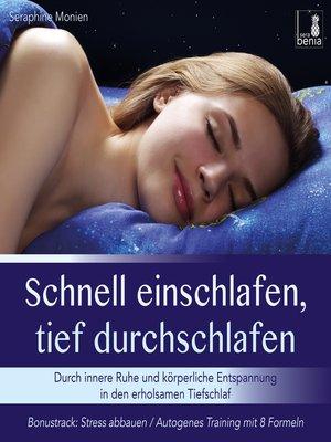 cover image of Schnell einschlafen, tief durchschlafen