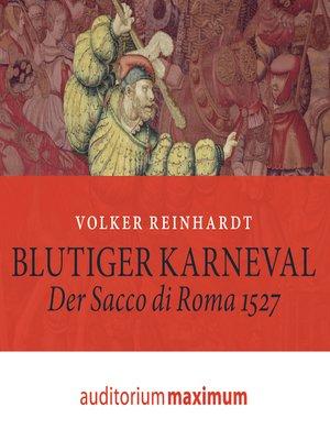 cover image of Blutiger Karneval