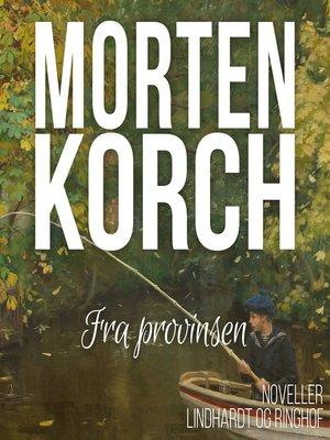 cover image of Fra provinsen