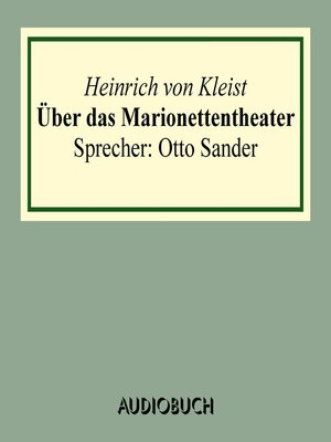 cover image of Über das Marionettentheater