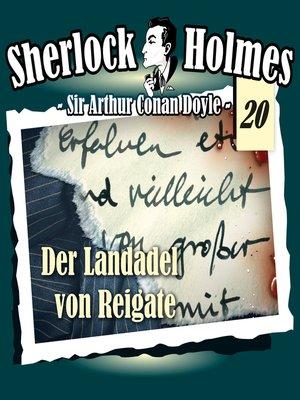 cover image of Sherlock Holmes, Die Originale, Fall 20