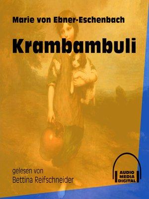 cover image of Krambambuli