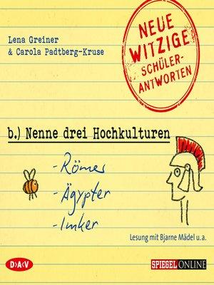 "cover image of ""Nenne drei Hochkulturen"