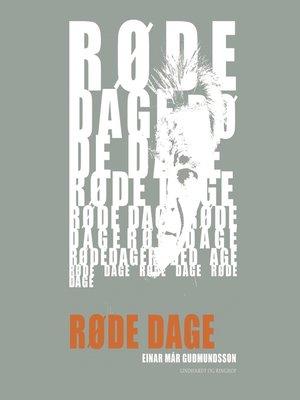 cover image of Røde dage