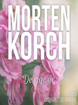 cover image of De rige år