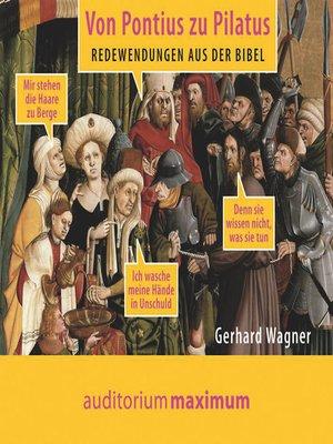 cover image of Von Pontius zu Pilatus
