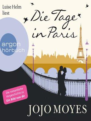 cover image of Die Tage in Paris