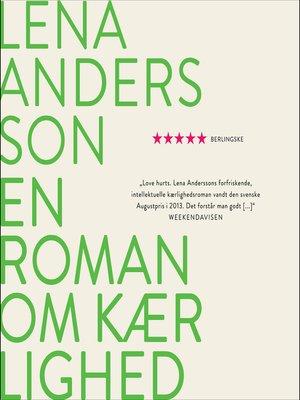 cover image of En roman om kærlighed