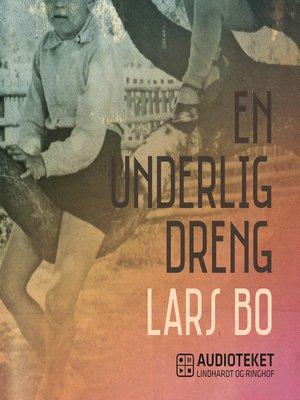 cover image of En underlig dreng