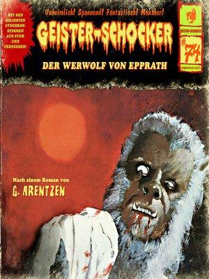 cover image of Geister-Schocker, Folge 74
