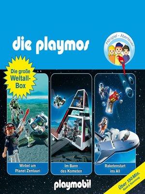 cover image of Die Playmos--Das Original Playmobil Hörspiel, Die große Weltall-Box, Folgen 29, 36, 48