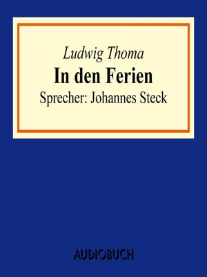 cover image of In den Ferien