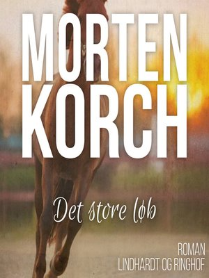 cover image of Det store løb