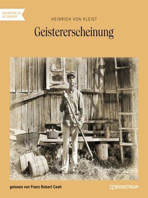 cover image of Geistererscheinung
