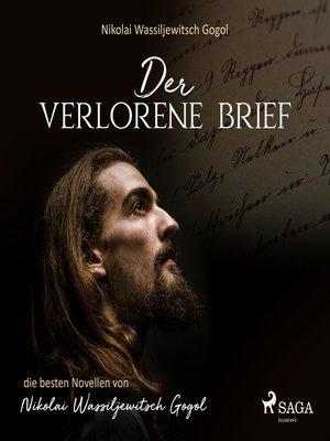 cover image of Der verlorene Brief