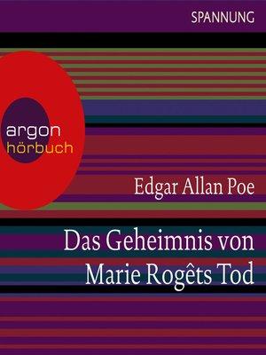 cover image of Das Geheimnis von Marie Rogêts Tod