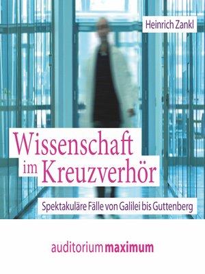cover image of Wissenschaft im Kreuzverhör