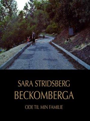cover image of Beckomberga--Ode til min familie