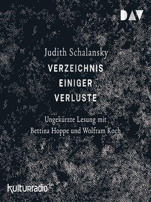 cover image of Verzeichnis einiger Verluste