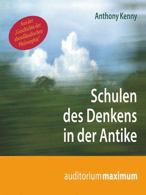 cover image of Schulen des Denkens in der Antike