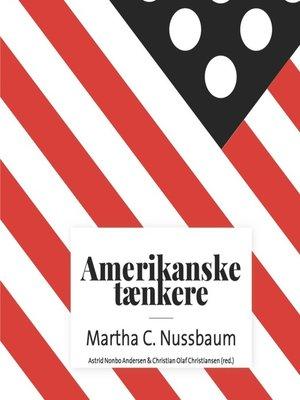 cover image of Amerikanske taenkere--Martha C. Nussbaum