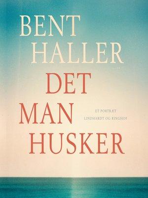 cover image of Det man husker