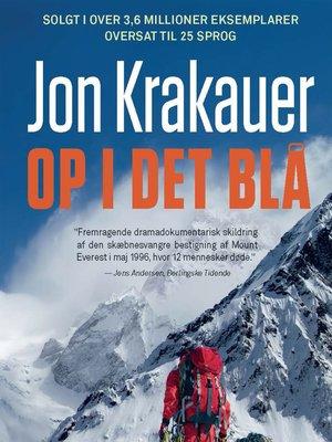 cover image of Op i det blå
