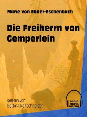 cover image of Die Freiherrn von Gemperlein