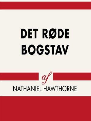 cover image of Det røde bogstav--Verdens klassikere