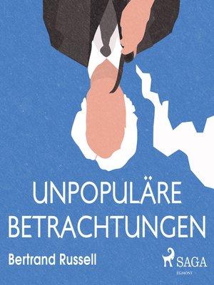 cover image of Unpopuläre Betrachtungen