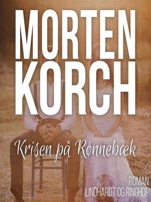 cover image of Krisen på Rønnebaek