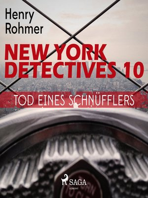 cover image of Tod eines Schnüfflers--New York Detectives 10