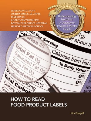cover image of How to Read Food Product Labels