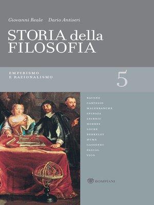 cover image of Storia della filosofia--Volume 5