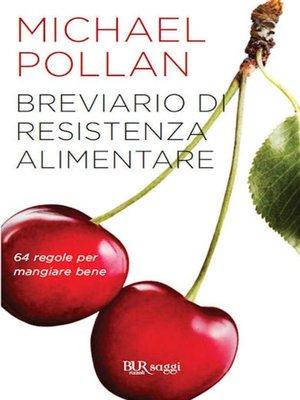 cover image of Breviario di resistenza alimentare
