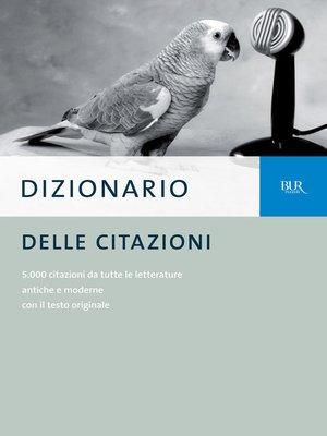cover image of Dizionario delle citazioni